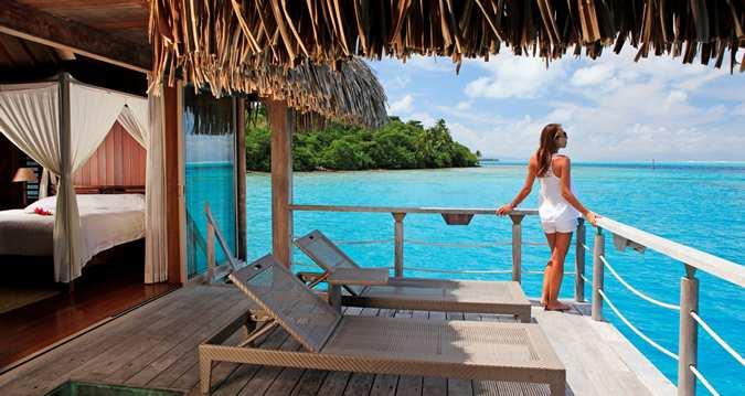 Deluxe Overwater Villa, terrace view