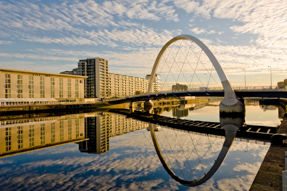 The Clyde Arc bridge, Glasgow.